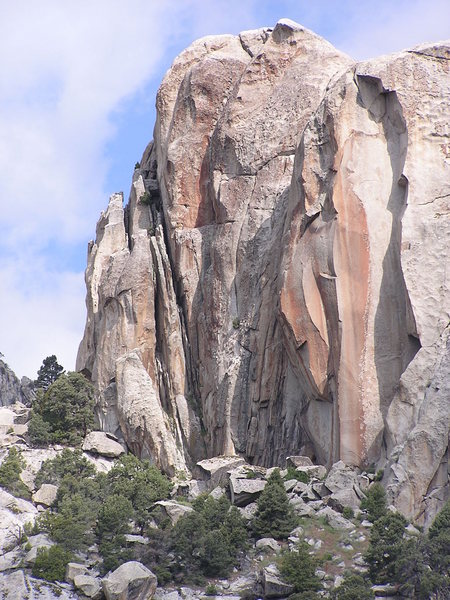 Rock Climbing Photo: The south face of Competition Wall