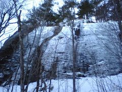 Rock Climbing Photo: The main slab wall in good conditions. Feb. 20, 20...