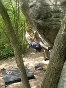 Rock Climbing Photo: Midway up on Lance's Dihedral