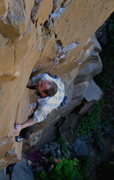 Rock Climbing Photo: Josh Janes gunning at the crux on his onsight run,...