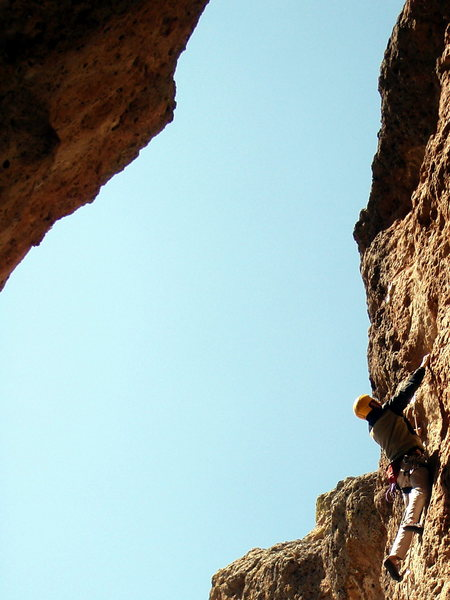 Rock Climbing Photo: Dean on unknown 5.10d.