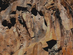 Rock Climbing Photo: It could always be worse... JJ Schlick on the FA.