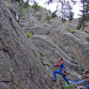 Rock Climbing Photo: Spandex and Traddie Day - Climbing at Tonnere