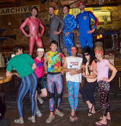 Rock Climbing Photo: Spandex and Traddie Day - Action Suits, Take: 2