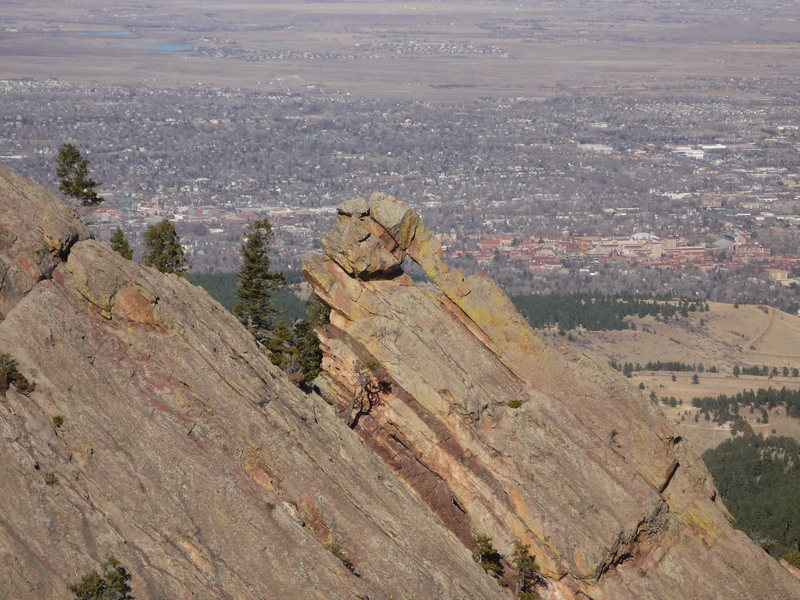 Flying Flatiron from the Pyramid.