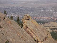Rock Climbing Photo: Flying Flatiron from the Pyramid.