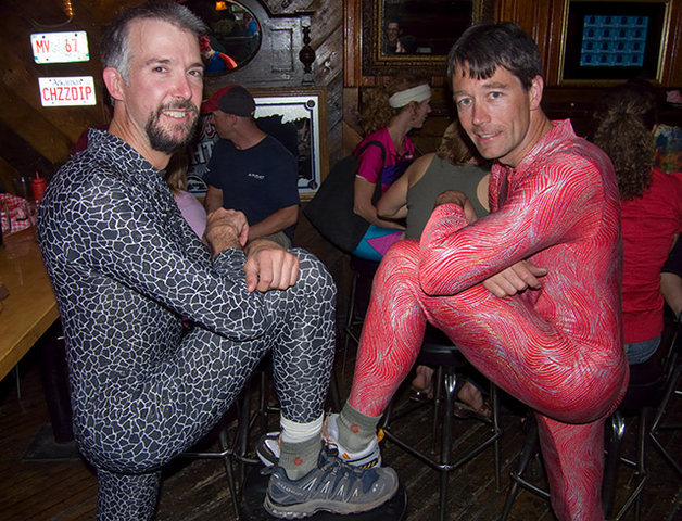 Rock Climbing Photo: Spandex and Traddie Day - Mark and Tony: Sock mode...