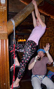 Rock Climbing Photo: Spandex and Traddie Day - Kat A on the aid practic...