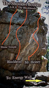 "Rock Climbing Photo: Photo Beta for ""The Shoulder Boulder"" A...."