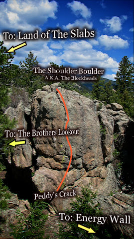 "Photo Beta for the ""Shoulder Boulder"" A.K.A. ""The Blockheads."""