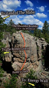 "Rock Climbing Photo: Photo Beta for the ""Shoulder Boulder"" A...."