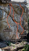 Rock Climbing Photo: Photo beta for The Subterranean Wall.