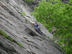Rock Climbing Photo: Dave placing gear on Ribs