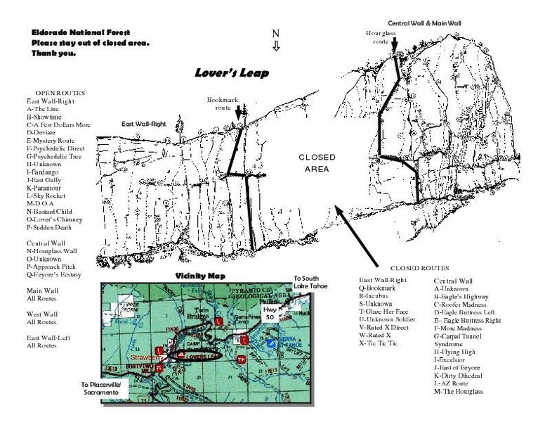 Rock Climbing Photo: 2009 Closure Map