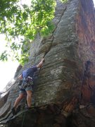 Rock Climbing Photo: Climbing just the right crack of Hydroponics, Coyo...