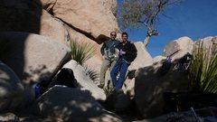 Rock Climbing Photo: Yay, climbing with Kabir! DQ wall.