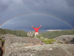 Rock Climbing Photo: Sweet Rainbow- Mt.Herman Area