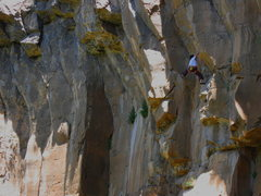 Rock Climbing Photo: Colin Cox getting a taste of stems on his onsight.