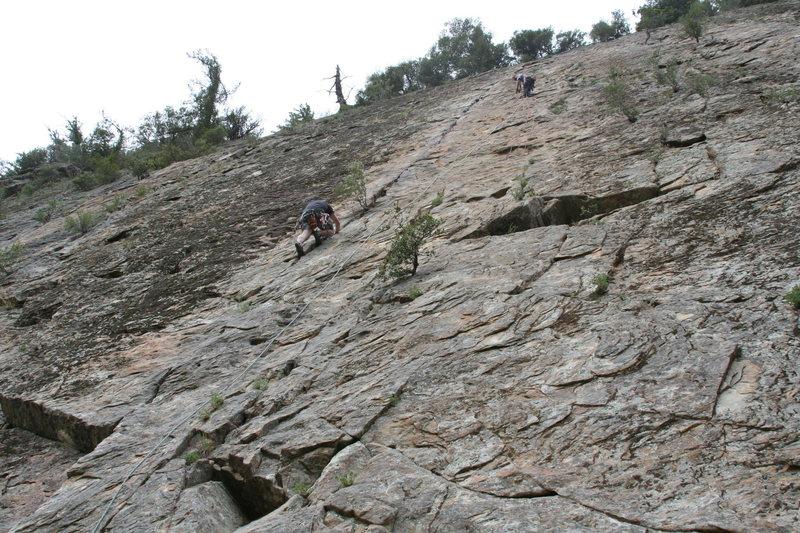Rock Climbing Photo: Tim Lister of Oxnard cleans Ending crack