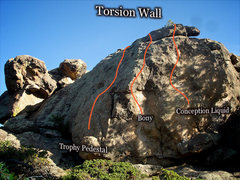 "Rock Climbing Photo: Photo beta for the ""Torsion Wall."""