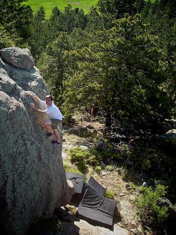 "Rock Climbing Photo: John Morgan making the F.A. of ""Trophy Pedest..."