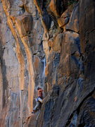Rock Climbing Photo: Taking a quick break before the steepness...