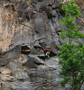 Rock Climbing Photo: Moving into the mysterious low flare crux...  This...