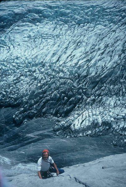 Dave Anderson climbing the Bernese Oberland's Klein Wellhorn 1993