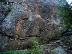 Rock Climbing Photo: Tortuga's giant South Facing wall!!!  Crazy fun hi...