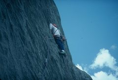 Rock Climbing Photo: Dave on the 18th pitch of Adler Auge (Eagle Eye), ...