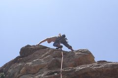 Rock Climbing Photo: Me at anchors of some crazy hard route on Cash Wal...