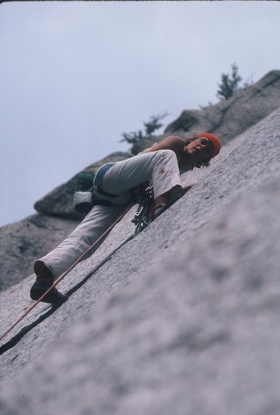 Rock Climbing Photo: Res von Känel on Waterfall Dome during the FA of ...