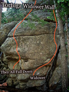 "Rock Climbing Photo: Photo beta for the ""Widower Wall."""
