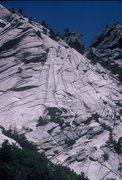 Rock Climbing Photo: Waterfall Dome in 1983