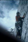 Rock Climbing Photo: A drilling session in early 1993 on Till Hell Free...
