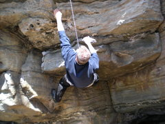 Rock Climbing Photo: Joe Hines on the initial move.