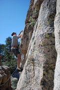 Rock Climbing Photo: Bill getting the first bolt on Children Should Not...