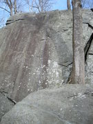 Rock Climbing Photo: The rope trails down to the right of center on Jan...