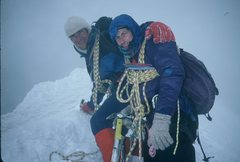 Rock Climbing Photo: Dave and me in The Alps...it was supposed to be a ...