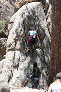 Rock Climbing Photo: me on Step Child 5.9
