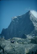 Rock Climbing Photo: Dave taking a break after climbing the NE Face of ...