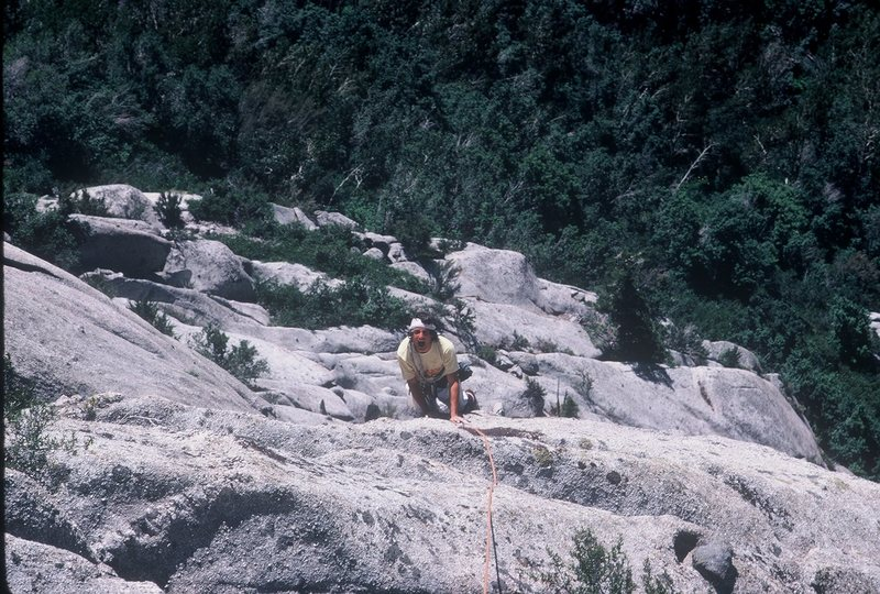 Topping out on Waterfall Dome's Pilz Grind in 1983