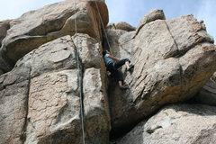 Rock Climbing Photo: me working on Green Eggs