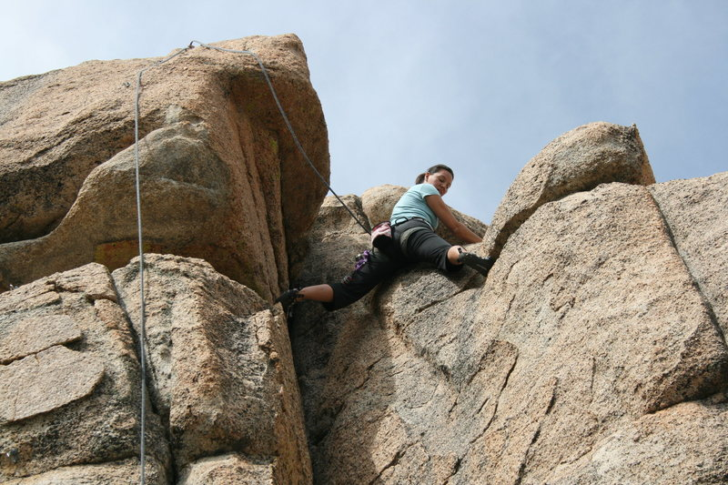 Rock Climbing Photo: me near the top of Green Eggs
