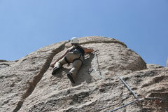 Rock Climbing Photo: Noelle on the upper wall of the unknown 5.10