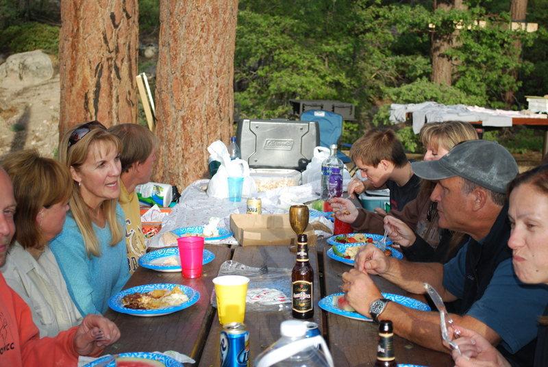 Rock Climbing Photo: ROWCC members dining on b-b-q