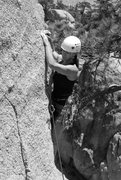 Rock Climbing Photo: Noelle on the upper face of Step Child.
