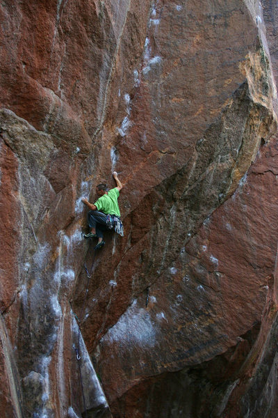 Rock Climbing Photo: Patrick making it look like a walk in the park.  S...