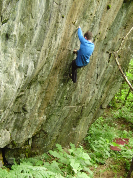 Rock Climbing Photo: Marc-Andre cruising up and down the crack for phot...