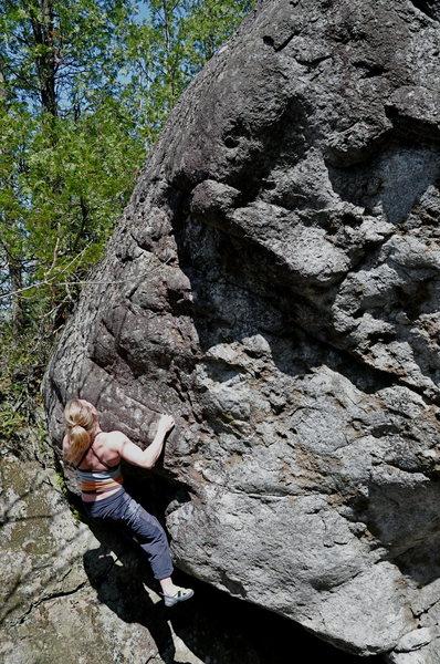 Climb left....